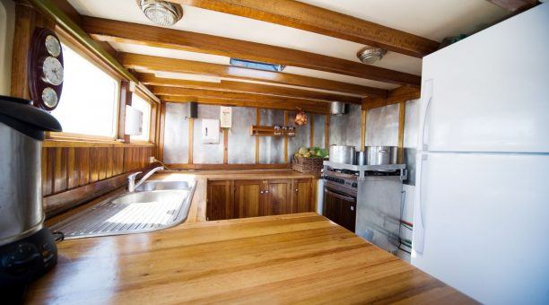 Let the onboard chef prepare some delicious meals in this Galley!